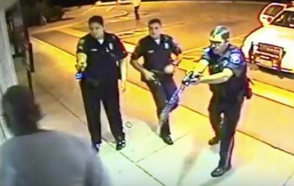 """Linwood """"Ray"""" Lambert tased while handcuffed by South Boston, Va. Officers Tiffany Bratton, Clifton Mann and Travis Clay"""