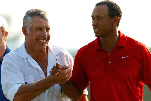 Tiger Woods and former caddy Steve Williams