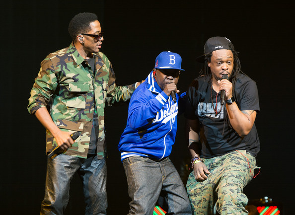 A Tribe Called Quest performs during the Yeezus Tour at Brooklyn's Barclays Center