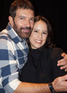 Antonio Banderas and 'The 33' director Patricia Riggen.