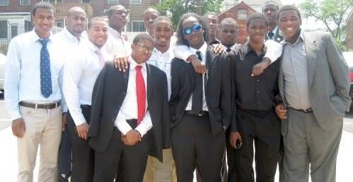 black male teachers and students