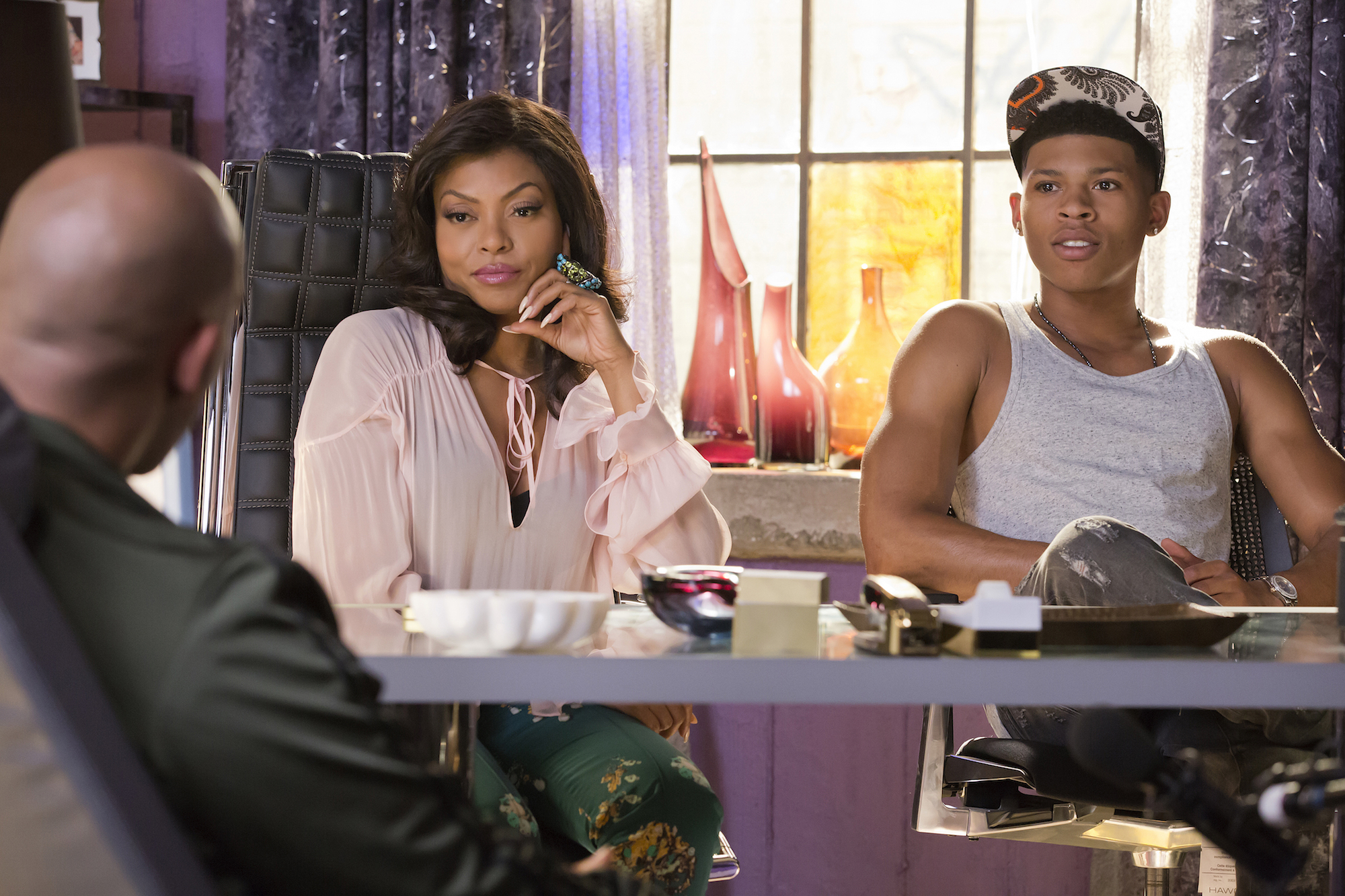 "EMPIRE: L-R: Taraji P. Henson and Bryshere Gray in the ""True Love Never"" episode of EMPIRE airing Wednesday, Nov. 11 (9:00-10:00 PM ET/PT) on FOX. ©2015 Fox Broadcasting Co. Cr: Chuck Hodes/FOX."