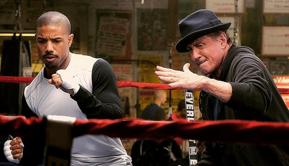 """Michael B. Jordan and Sylvester Stallone in """"Creed"""""""