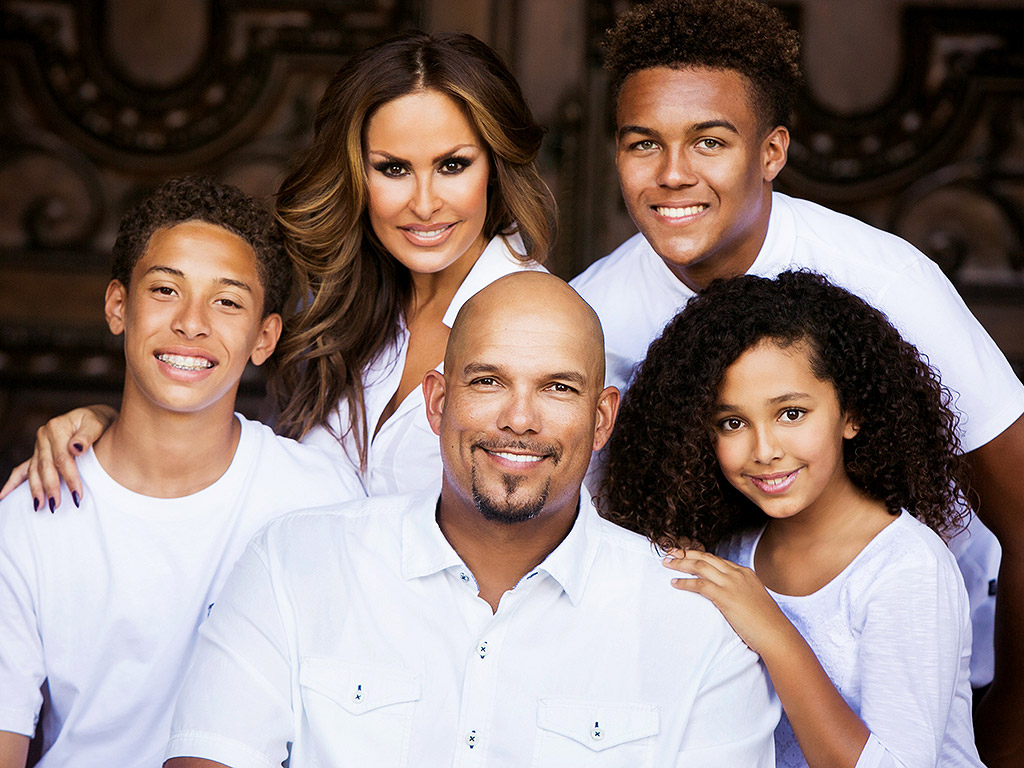 David Justice and his family