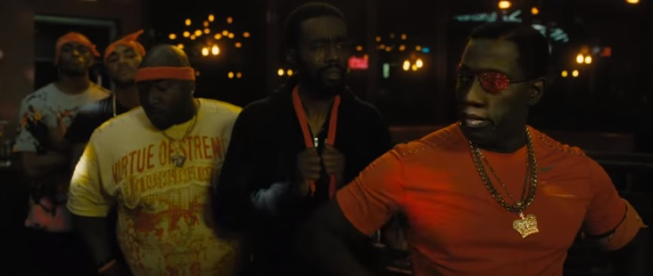 """Wesley Snipes as Cyclops in """"Chi-Raq"""""""