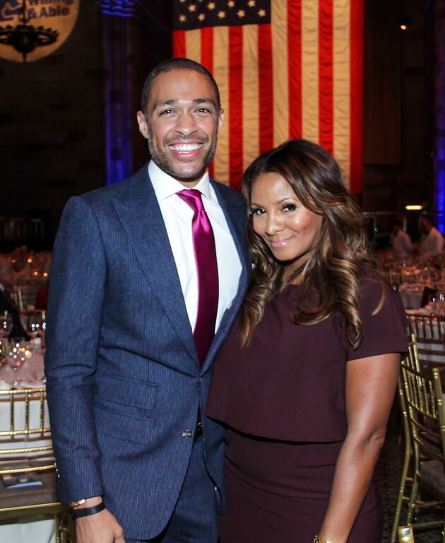 TJ Holmes and Marvet Britto attend the Doe Fund Gala
