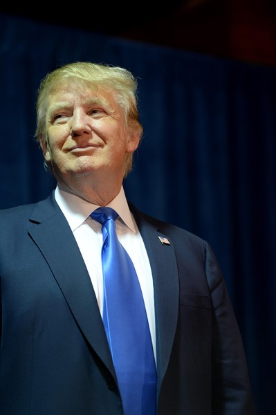 """Republican Presidential candidate Donald Trump speaks at """"Politics And Eggs"""" at the Radisson Hotel, on November 11, 2015 in Manchester, New Hampshire. Coming off the fourth debate Trump continues to run strong in the polls."""