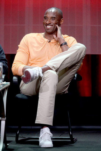 """Professional basketball player Kobe Bryant speaks onstage at the """"Kobe Bryant's Muse"""" panel during the El Rey Network portion of the 2014 Summer Television Critics Association at The Beverly Hilton Hotel on July 18, 2014 in Beverly Hills, California."""