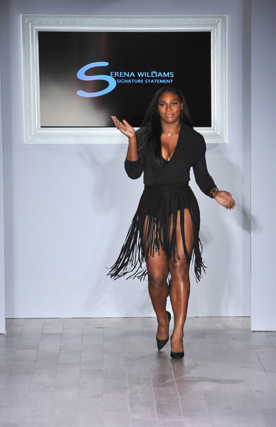 Designer Serena Williams takes a bow following the Serena Williams Signature Statement by HSN fashion show during the Spring 2016 Style 360 on September 15, 2016 in New York City.