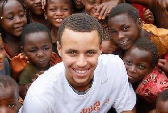 steph curry & african kids1