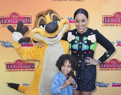tia mowry & son (lion guard)