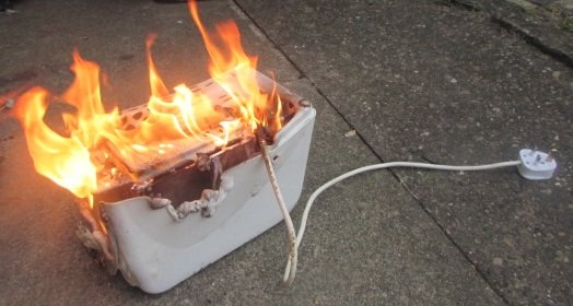 toaster burning, life hack