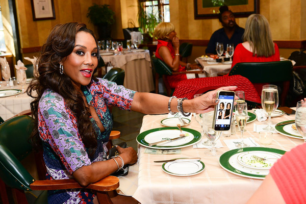(L-R) Actress Vivica A. Fox attends Ladies Champagne & Caviar Luncheon hosted by Dorys Erving at Aronimink Golf Club on September 14, 2015 in Newtown, Pennsylvania.