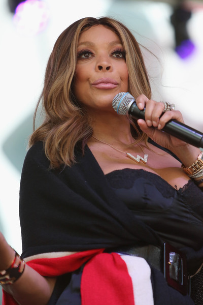 Media personality Wendy Williams appears onstage during the Lane Bryant launch of the #PlusIsEqual campaign at Times Square on September 14, 2015 in New York City.
