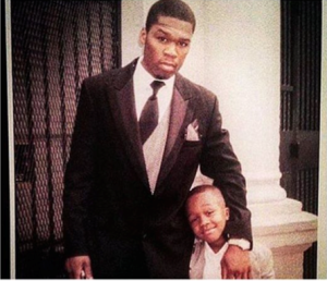 50 cent and son Marquise Jackson throwback picture