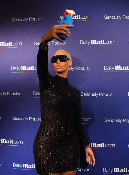 Amber Rose attends DailyMail.com Holiday Party 2015 on December 10, 2015 in New York City.