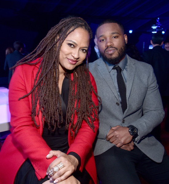 "Ava DuVernay (L) and Ryan Coogler attend the after party for the World Premiere of ""Star Wars: The Force Awakens"" on Hollywood Blvd on December 14, 2015 in Hollywood, California."