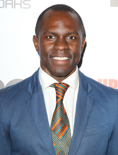 "Actor Gbenga Akinnagbe attends the premiere of BET original news documentary ""Ali: The People's Champ"" during UrbanWorld Film Festival on September 23, 2015 in New York City."