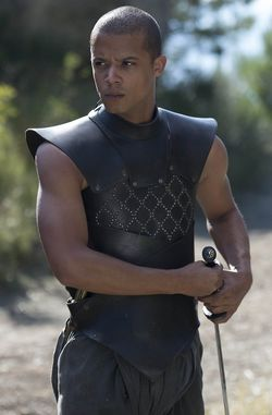 """Jacob Anderson as Grey Worm in HBO's """"Game of Thrones"""""""