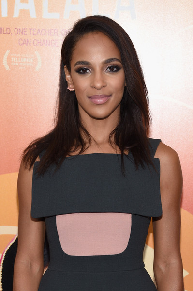 "Actress Megalyn Echikunwoke attends the ""He Named Me Malala"" New York premiere at Ziegfeld Theater on September 24, 2015 in New York City."