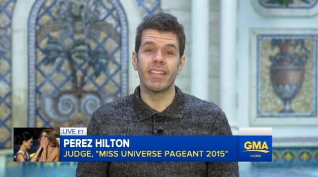 "Perez Hilton on ""Good Morning America"" (Dec. 22, 2015)"