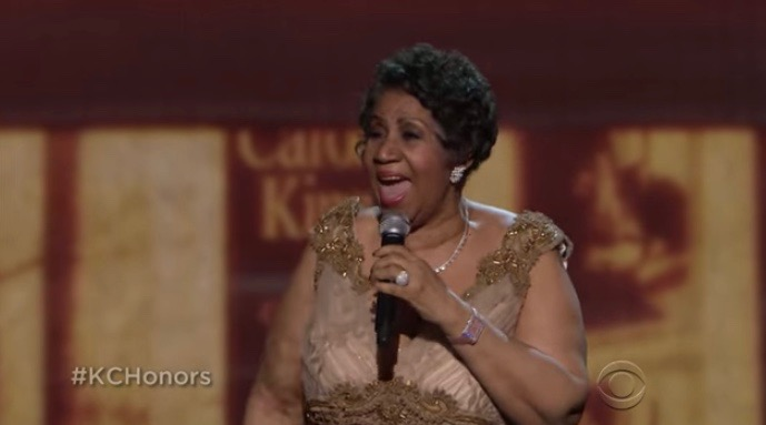 Aretha Franklin performs at the 2015 Kennedy Center Honors in Washington