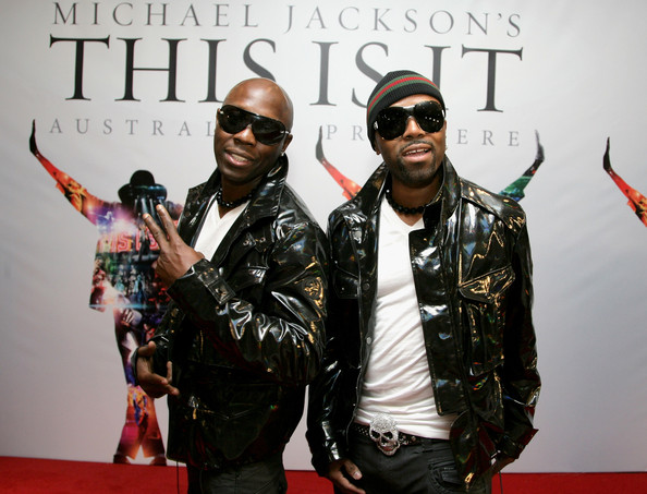 Musicians Georgie Hannibal and Teddy Riley arrive at the Australian Premiere of Michael Jackson's 'This Is It' at the Event Cinemas on October 28, 2009 in Sydney, Australia. (Oct. 27, 2009 - Source: Mike Flokis/Getty Images AsiaPac)