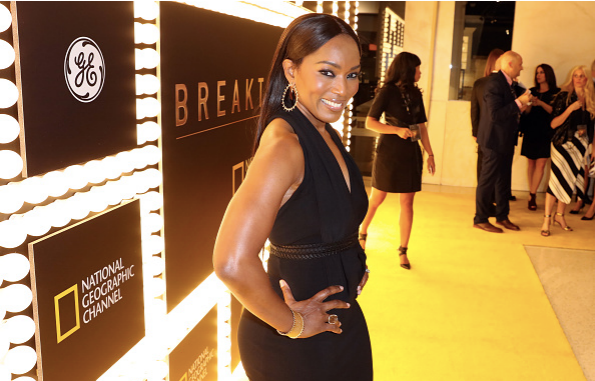 "Actress Angela Bassett attends National Geographic Channel's ""Breakthrough"" world premiere event at The Pacific Design Center on October 26, 2015 in West Hollywood, California."