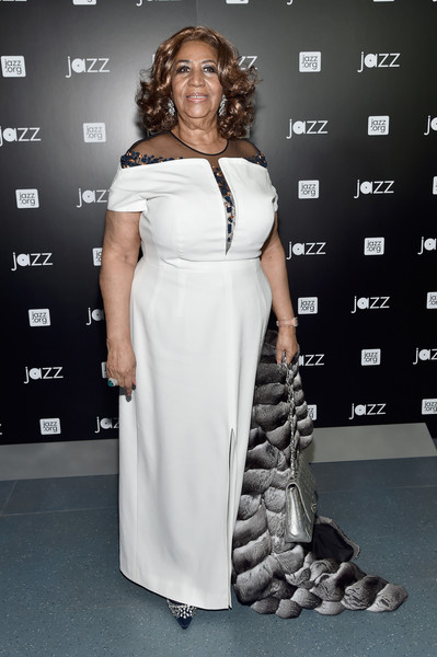 Musician Aretha Franklin attends the opening of the Mica and Ahmet Ertegun Atrium at Jazz at Lincoln Center on December 17, 2015 in New York City