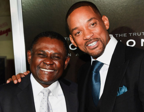 Dr. Bennet Omalu and Will Smith