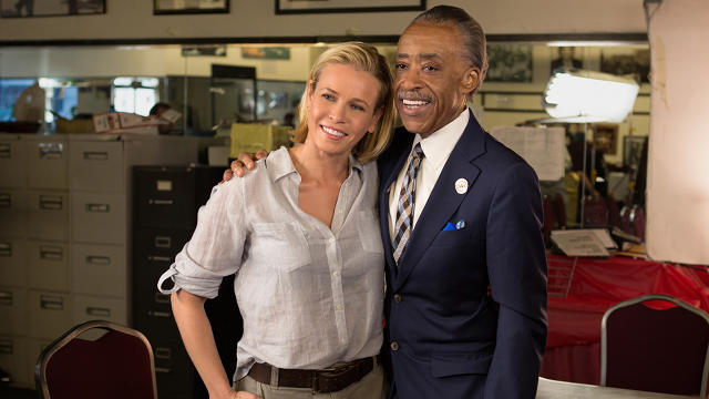"Chelsea Handler and Rev. Al Sharpton in the Netflix documentary series ""Chelsea Does Racism"""