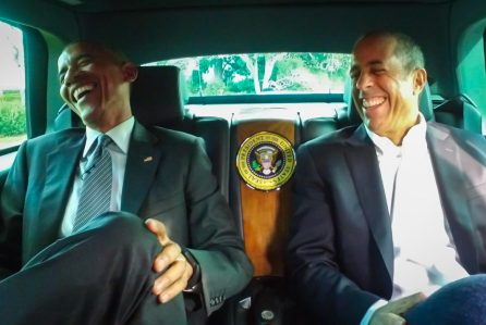 "President Barack Obama and Jerry Seinfeld in the web series ""Comedians in Cars Getting Coffee"" (Crackle)"
