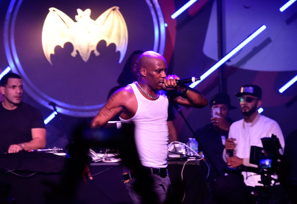 DMX (L) and Swizz Beatz perform on stage at The Dean Collection X BACARDI Untameable House Party - Day 3 on December 5, 2015 in Miami Beach, Florida.
