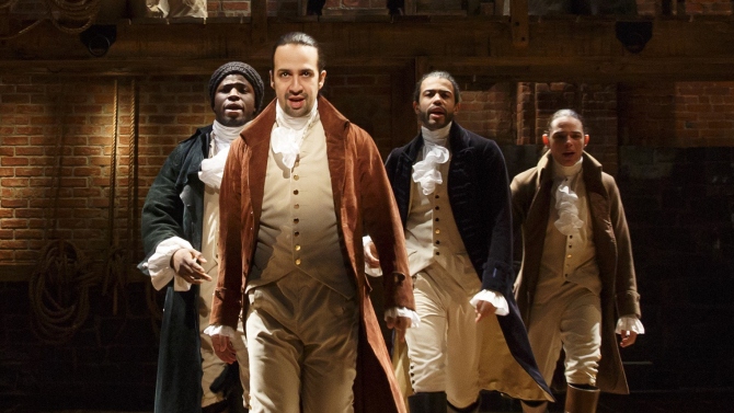 Lin Manuel Miranda as Alexander Hamilton in Broadway's Hamilton