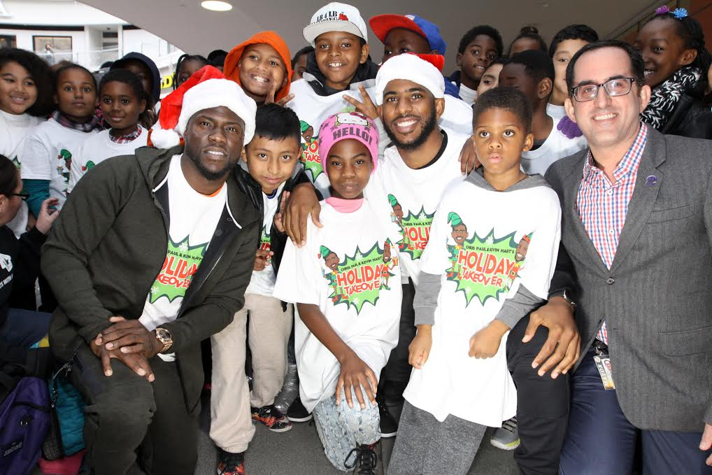 Kevin Hart, chris paul, holiday take over