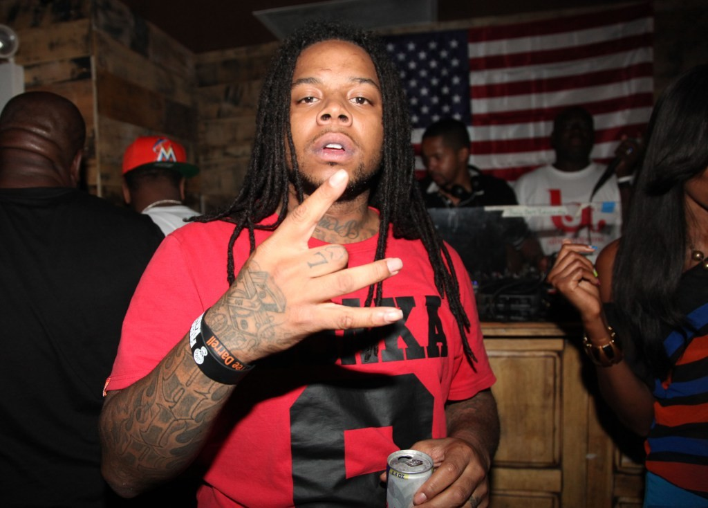 Rapper King Louie attends  The 5 Meet And Greet at The High Life on August 27, 2012 in New York City.