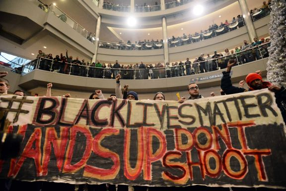 Black Lives Matter protest in the Mall of America (Dec 2014)