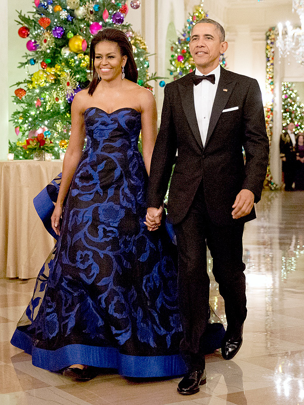 U.S. President Barack Obama and first lady Michelle Obama attend the Kennedy Center Honors at the Kennedy Center December 6, 2015 in Washington, DC.
