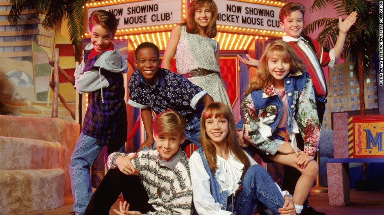 "Marque Lynche, second from left, was part of the ""Mickey Mouse Club"" in the mid-'90s, along with (clockwise from top) Nikki DeLoach, Justin Timberlake, Christina Aguilera, Britney Spears, Ryan Gosling and T.J. Fantini"