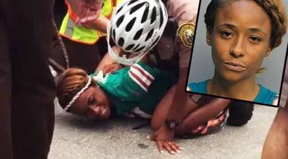 Miko Grimes taken down by cops following a game between the Miami Dolphins and the Buffalo Bills (Sept. 27, 2015)