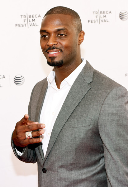 Professional football player Plaxico Burress attends Tribeca Talks/ESPN Sports Film Festival: The Greatest Catch Ever during the 2015 Tribeca Film Festival at SVA Theater on April 19, 2015 in New York City.