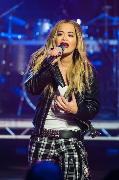 "Rita Ora performs with Sigma during a broadcast of ""TFI Friday"" at Cochrane Theatre on December 11, 2015 in London, England."