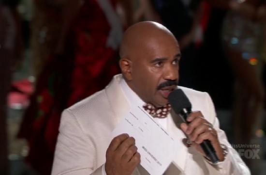 steve harvey (miss universe - white jacket)
