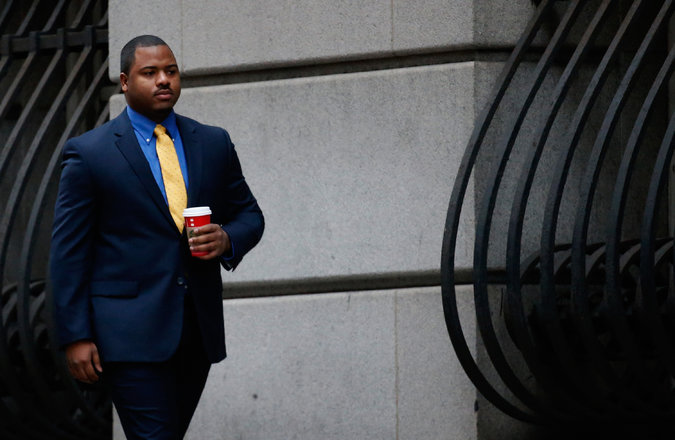 William G. Porter at the courthouse in Baltimore on Monday, Nov 30, 2015. He is the first of six officers to go on trial in the death of Freddie Gray.