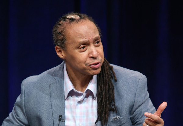 Former Black Panther and film participant Jamal Joseph speaks onstage during 'The Black Panthers: Vanguard of the Revolution' press conference as part of the PBS portion of the 2016 Television Critics Association Winter Press Tour at Langham Hotel on January 19, 2016 in Pasadena, California.