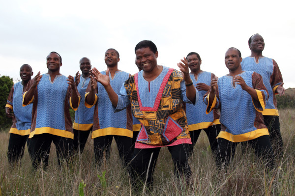 Ladysmith Black Mambazo, male choral group from South Africa, will perform March 8, 2013 at the Aladdin Theater in Portland. Photo By Shane Doyle.