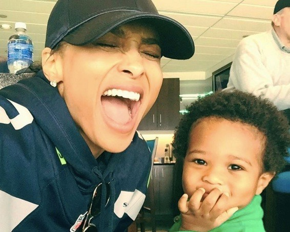 Ciara and her son