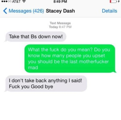 Stacey Dash and Ryan Prophet text messages 1