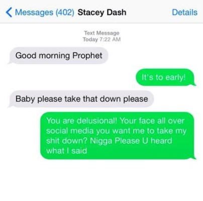 Stacey Dash and Ryan Prophet text messages 2