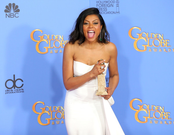 """Actress Taraji Henson, winner of Best Performance by an Actress In A Television Series - Drama for """"Empire,"""" poses in the press room during the 73rd Annual Golden Globe Awards held at the Beverly Hilton Hotel on January 10, 2016 in Beverly Hills, California."""